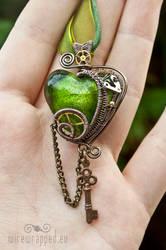 Steampunk heart with a key 2