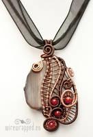 Agate slab pendant by ukapala