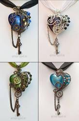 Hearts with keys by ukapala