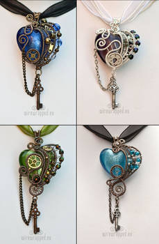 Hearts with keys