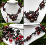 Red gothic necklace