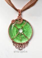 Green eye pendant by ukapala