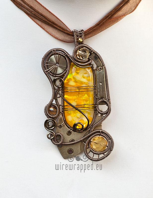 Dichroic steampunk pendant 4 by ukapala
