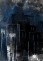 Dark blue city by ukapala