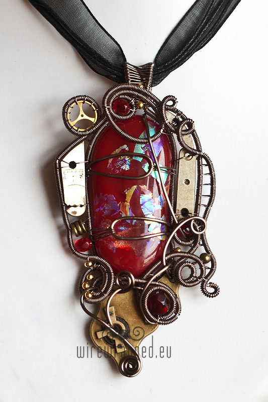 Dichroic steampunk pendant 5 by ukapala