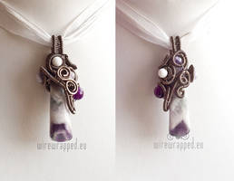 Purple Winter pendant by ukapala