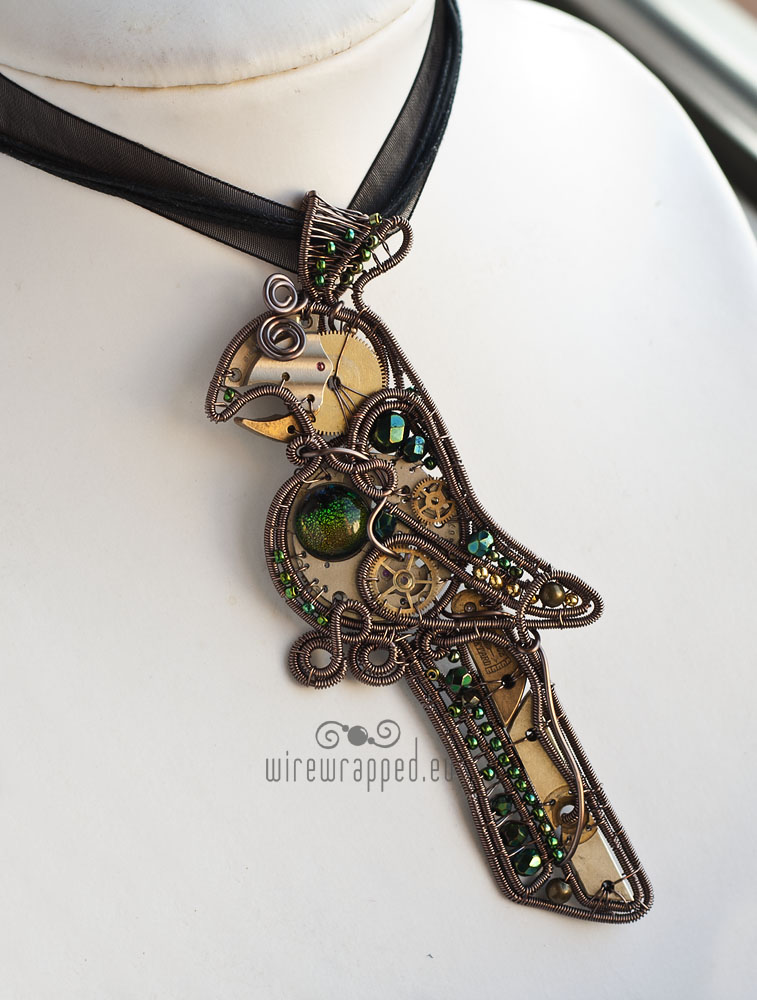 Steampunk parrot pendant by ukapala on DeviantArt