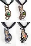 Steampunk kitty pendants enhanced version