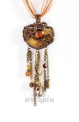 Industrial steampunk pendant
