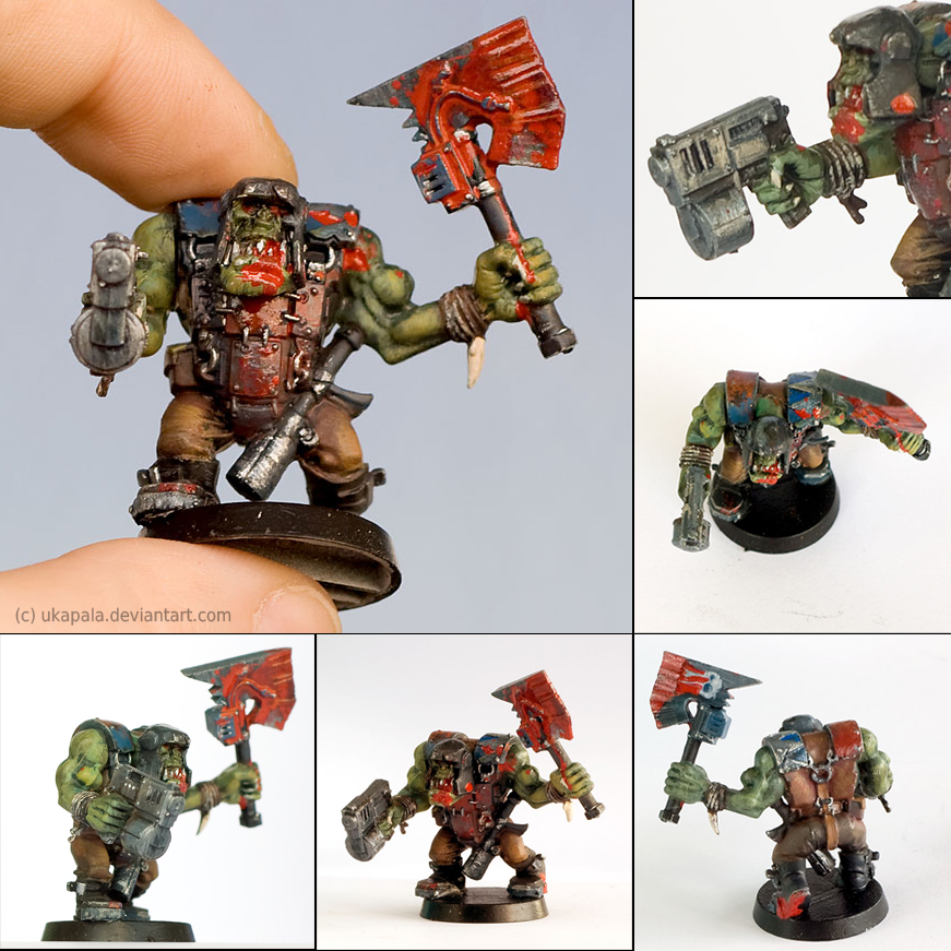 Warhammer 40k figures - Orc 1 by ukapala on DeviantArt