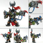 Warhammer 40k figures - Orc 2 Boss by ukapala