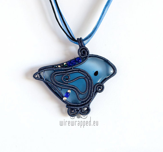 Blue Birdie Pendant by ukapala