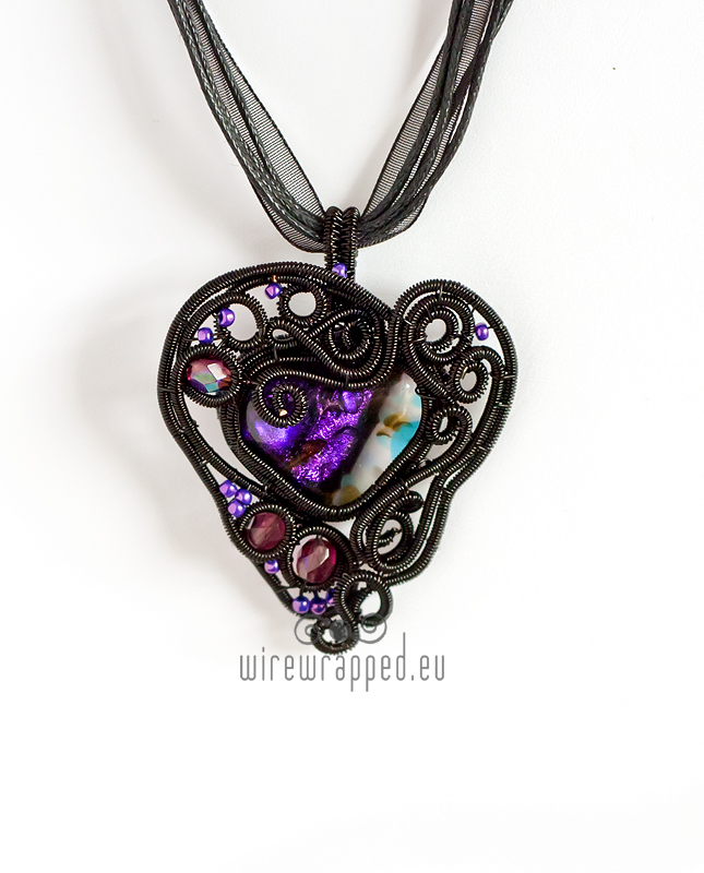 Wire wrapped gothic heart pendant by ukapala on DeviantArt