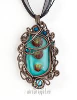Summer blue pendant by ukapala