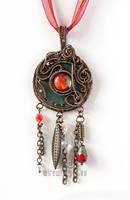 Red eye industrial pendant by ukapala