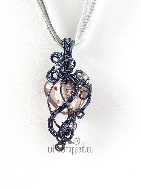 Freeform heart pendant 1 by ukapala