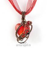 Freeform heart pendant 3 by ukapala