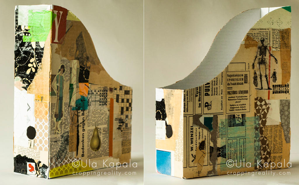 Collaged file box no 1 by ukapala