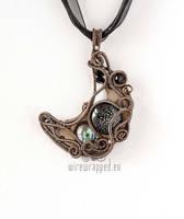 Steampunk Moon pendant by ukapala