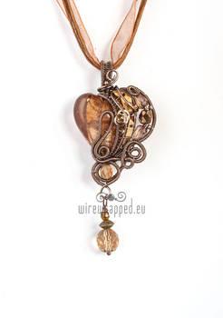 Brown steampunk heart