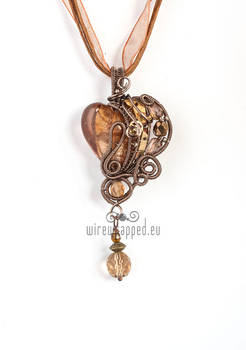 Brown steampunk heart