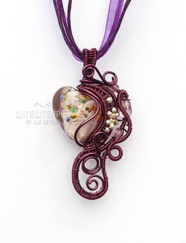 Purple wire heart