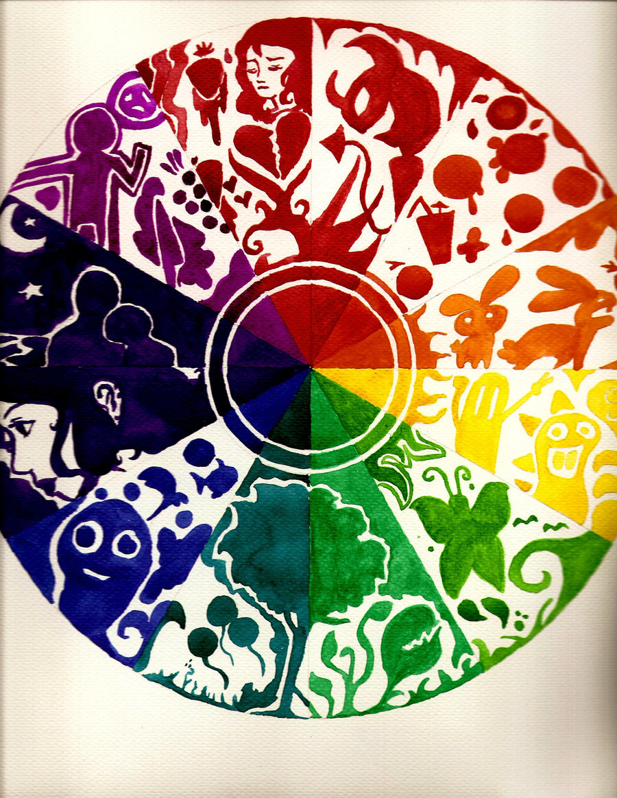 Acrylic Paint Color Wheel High School Art Painting Jerdeeart