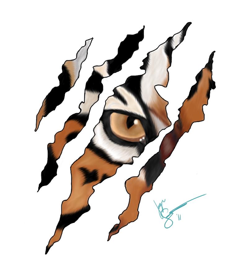 Tiger Scratch Design Tiger scratch 2 by maineac92