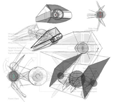 First Order TIE Interceptor Concept Rough