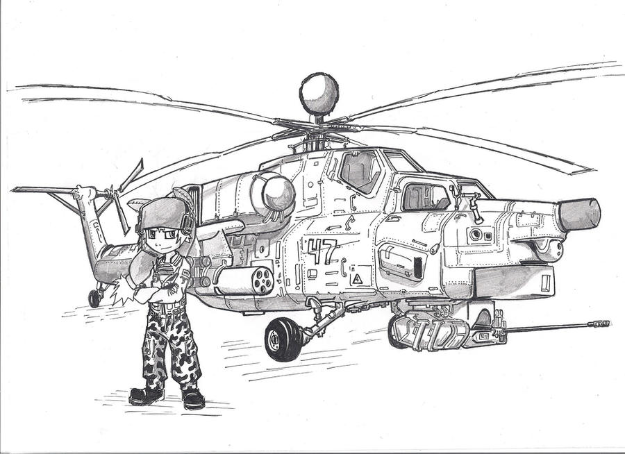 Yugo and his bird Az (MI-28) by KharnBetrayer