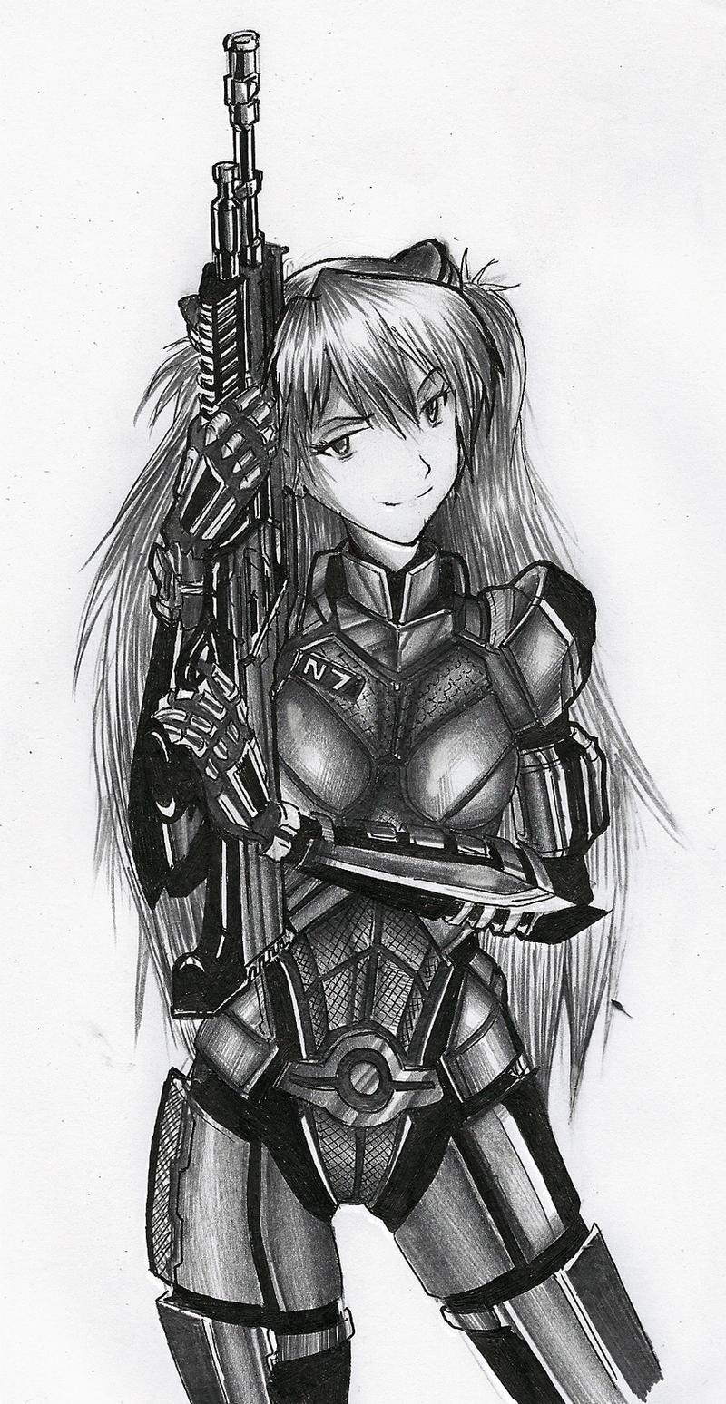 Asuka Soryu Shepard by KharnBetrayer