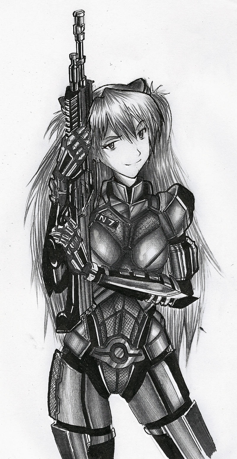 Asuka Soryu Shepard by YorickAngerfist
