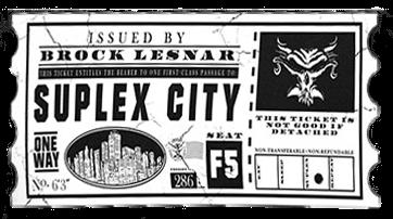 Brock Lesnar Suplex City Logo Cutout Version 1 by ChrisNeville85