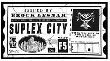Brock Lesnar Suplex City Logo Cutout Version 2 by ChrisNeville85