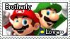 [Comm.] Mario and Luigi Brotherly Love Stamp