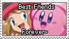 [Comm.] Serena and Kirby BFF stamp by TheKitsuneAlchemist