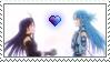 [Comm.] Yuuki X Asuna Stamp by TheKitsuneAlchemist