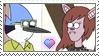 [Comm.] Mordecai X Stef Stamp by TheKitsuneAlchemist