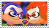 [Comm.] Inkling Boy X Inkling Girl Stamp by TheKitsuneAlchemist