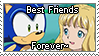 [Comm.] Sonic and Helen BFF stamp by TheKitsuneAlchemist