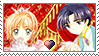 [Comm.] Sakura X Eriol Stamp by TheKitsuneAlchemist