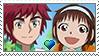 [Comm.] YuujinXSuzume stamp by TheKitsuneAlchemist