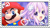 [Comm.] MarioXNeptune Stamp by TheKitsuneAlchemist