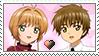 [Comm.] Sakura X Syaoran Stamp by TheKitsuneAlchemist