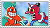 [Comm.] Djimmi the Great X Beppi the Clown Stamp