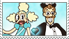 [Comm.] Stageplay Couple Stamp by TheKitsuneAlchemist
