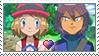 [Comm.] SerenaXPaul CreamyCoffeeShipping Stamp by TheKitsuneAlchemist