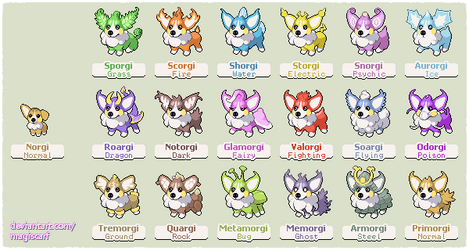 Corgis by Magiscarf