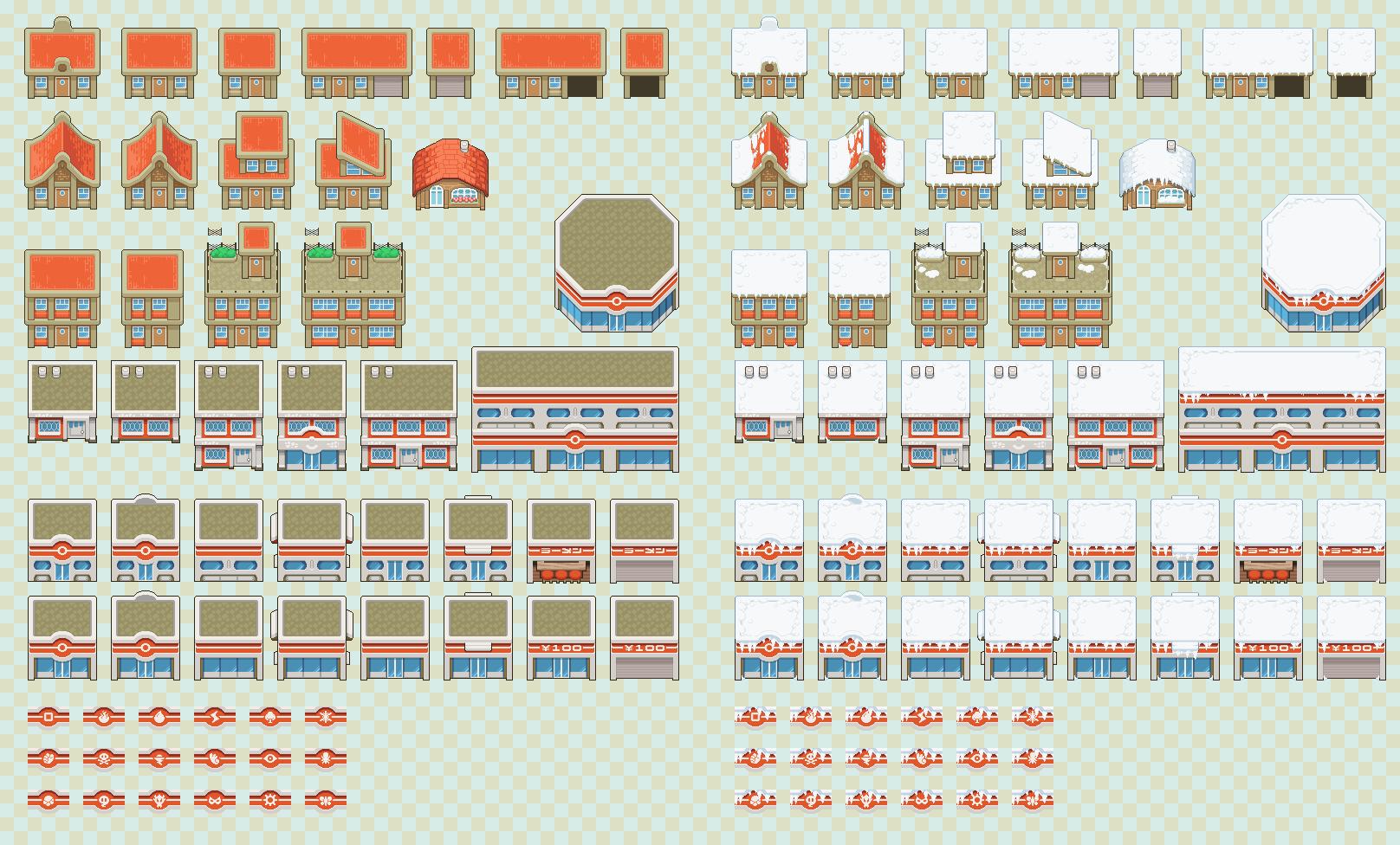 Buildings Tiles w/ Snow
