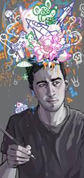 self portrait for banner by Dmitrys